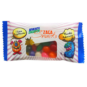 Zagasnacks Promo Snack Pack Bags - Jelly Beans, Signature Peppermints, Red Hots, Gum, Goldfish, Hershey Kisses, Gumballs