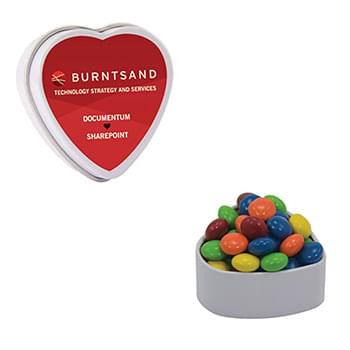 Small Heart Tin - Colored Candy, Chocolate Littles, Sugar-Free Peppermints