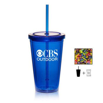 16 oz. Double Wall Tumbler With Jolly Ranchers